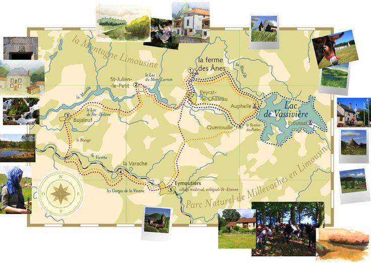 Randonnée avec un ane en Limousin, au coeur du Massif-Central (lac de Vassivière, Plateau de Millevaches...)