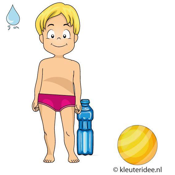 Waterspelletjes voor kleuters, kleuteridee , spel 11, flessenbal.