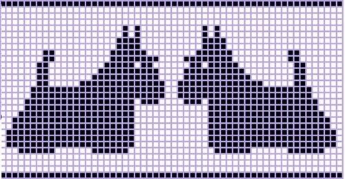 filet crochet and cross stitch charts