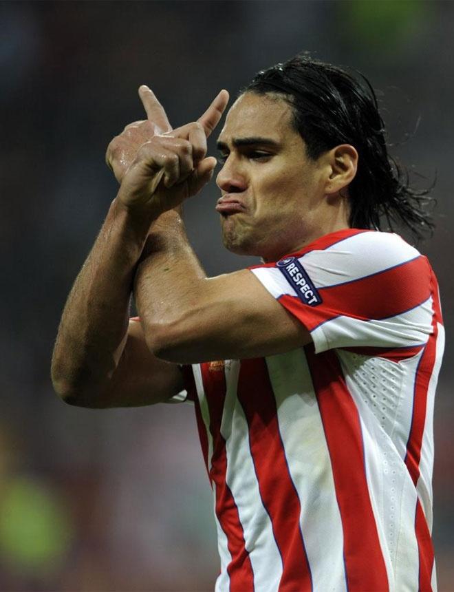Radamel Falcao fue la pesadilla del Athletic. Cada vez que cogía el balón, la defensa vasca temblaba