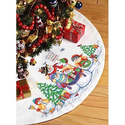 Cross Stitch Tree Skirt Patterns Free Cross Stitch Patterns border=