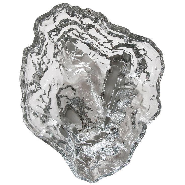 Tapio Wirkkala, Inari Glass Dish Model No. 3542 for Iittala Oy | 1stdibs.com