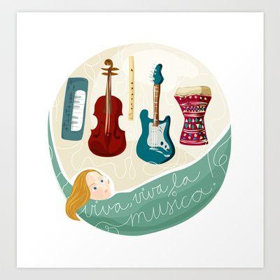 Viva la musica Art Print by Zsófi Porkoláb