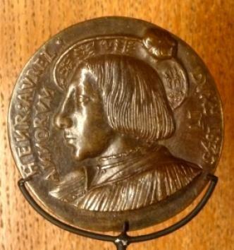 Médaille en bronze d'Henri d'Orléans