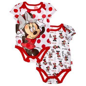 2pk Minnie Mouse Bodysuits 0 9m 311478401 | Bodysuits | Baby Girl Layette | Layette | Clothing | Burlington Coat Factory