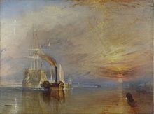 J. M. W. Turner - The Fighting Temeraire tugged to her last berth to be broken up, 1839