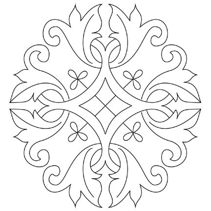 Free Hand Embroidery Design suitable for goldwrk or any surface embroidery technique