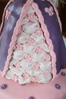 Princess fondant marzipan (dress) Cake with real doll inside