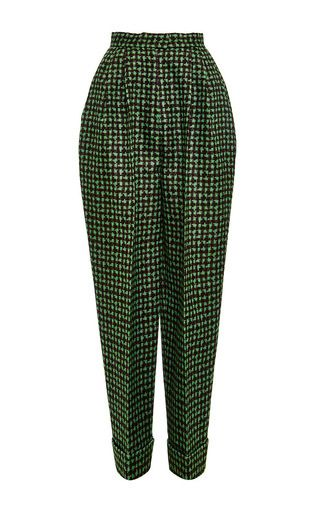 1600 Houndstooth triple organza trouser by DELPOZO Now Available on Moda Operandi