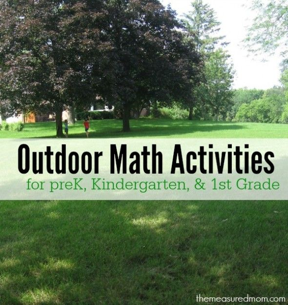 Fun ways to learn math outdoors for kids ages 4-7
