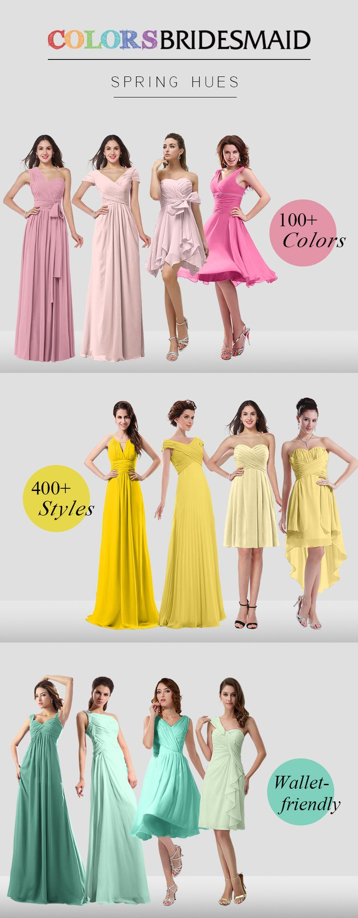 Bridesmaid Dresses in 400+ Styles & 100+ Colors that won't Break your bank. Custom Made to closely fit your Own Size. USA Free Shipping. Buy Now!