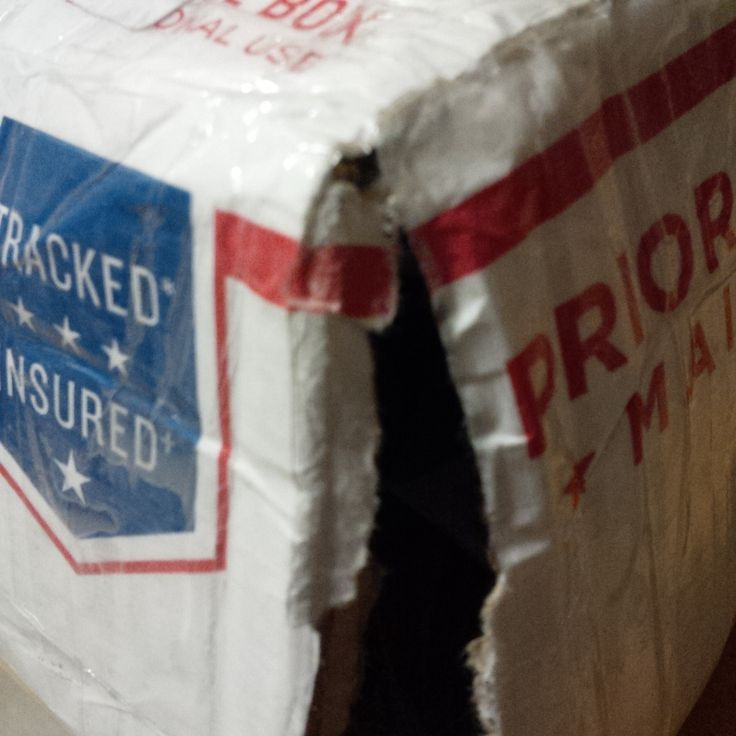 Take care to follow our shipping instructions.  Here's an example of a box weakened by moisture of wet coins in plastic bags with seals that were not tight.