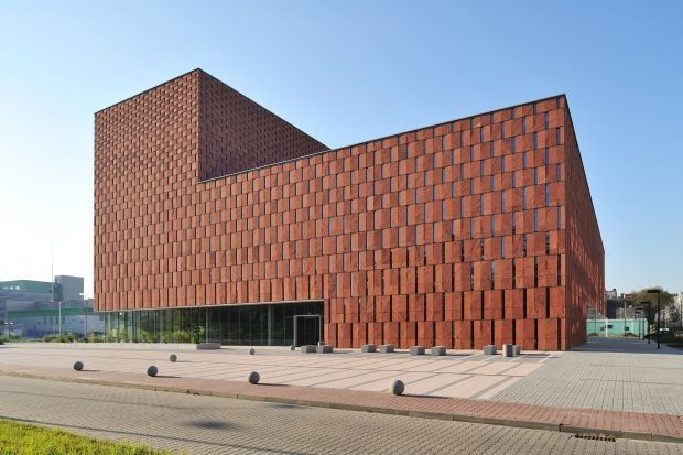 University Library Building in #Katowice, #Poland  Centrum Informacji Naukowej i Biblioteka Akademicka, Katowice  #architecture  Very well received design in Poland. From #HS99 Architectural Practice.
