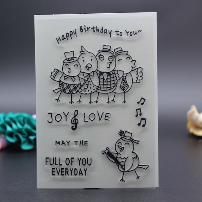 Cheap embosser wedding, Buy Quality template stencil directly from China template free Suppliers: 10x15CM Clear Stamp sing bird happy birthday decoration envelope DIY Scrapbook Card embossing stencil template transparent stamp