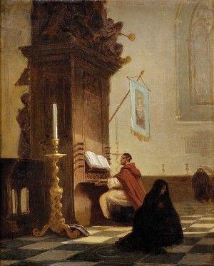 T. Ziegler (1830-?) Hrajúci mních