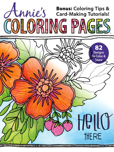 Annies Coloring Book Featuring Art By Tammy Tutterow And Catherine Scanlon Available For Pre Order Now On News Stands May