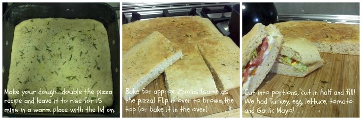 Foccaccia (otherwise known as Oh crap I've run out of bread bread!) LOL!