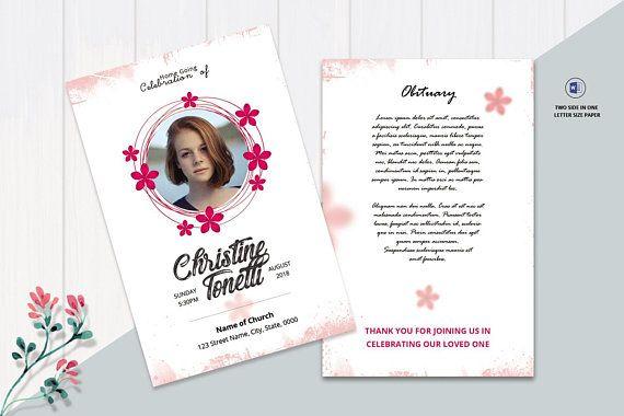 Printable Prayer Card Funeral Prayer Card Template Editable Ms