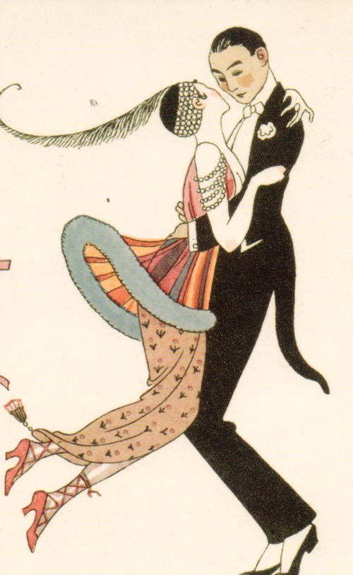George Barbier (1882-1932) - French Art Deco Fashion Illustrator - dancers