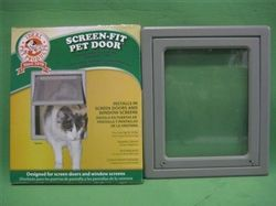 The Ideal Screen Fit Pet Door offers a flap opening of 9 3/4' x 10 1/2' making it suitable for cats up to 20 lbs. This Pet screen door features a dual sliding locking system and magnetic closure to ensure the flap is closed properly after every use.