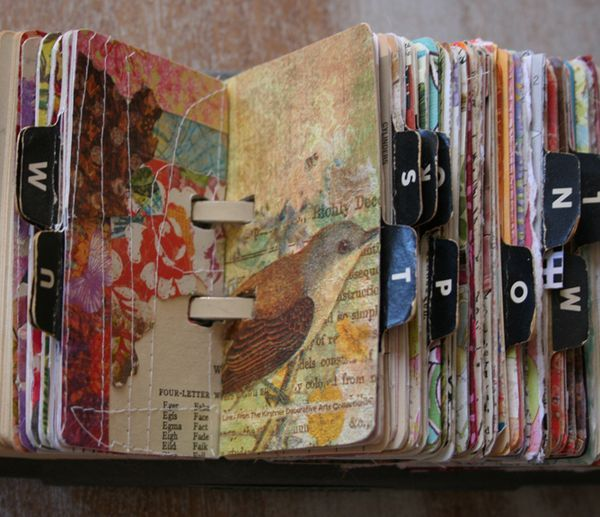 I am sooo making one of these!  I think I have to go to Goodwill tomorrow to find one. #journaling #ATC