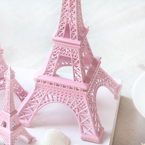 25CM de 10 pulgadas modelo de Pink Torre Eiffel de París mesa centros de mesa de souvenirs de la aleación de la torre Eiffel del metal central envío libre