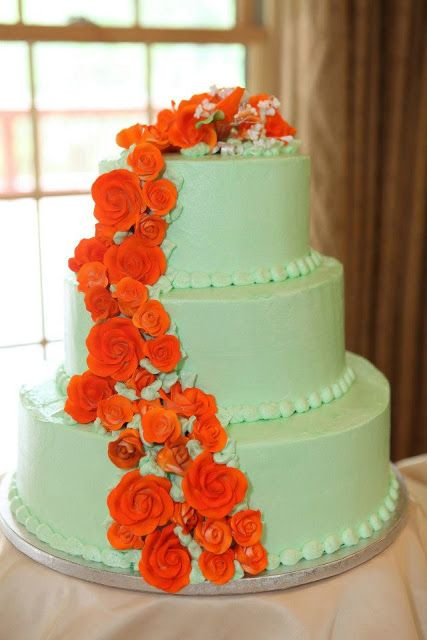 pictures of orange and green wedding cakes 17 best images about cakes on mint gold 18416