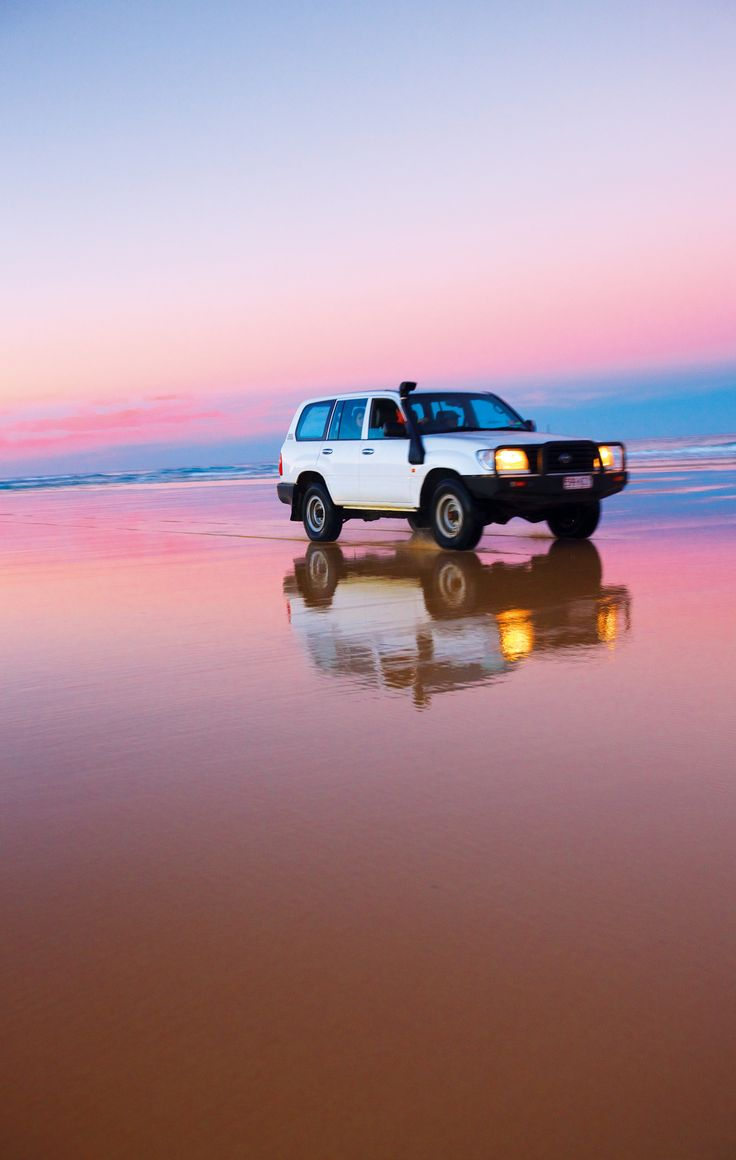 Four wheel driving on Fraser Island is a must! #thisisqueensland More info on Fraser Island http://www.queenslandholidays.com.au/destinations/fraser-coast/fraser-coast_home.cfm?cmpid=1996