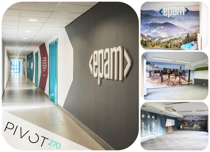 Our returning partner, Epam's office in Debrecen was opened lately. After designing and implementing we have done the full decoration project as well, so employees can work from now in a new, beautiful and inspiring environment. Keep up the good job and we wish good luck for all!  https://www.epam.com/ #epam #epamhungary #pivot270 #office #debrecen #interior #design #implementation