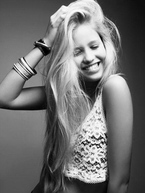 long blonde hair