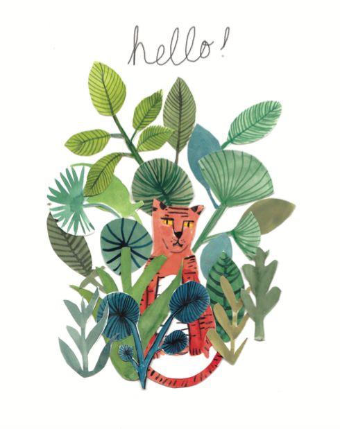 Hello Tiger, Emily Watkins Illustration