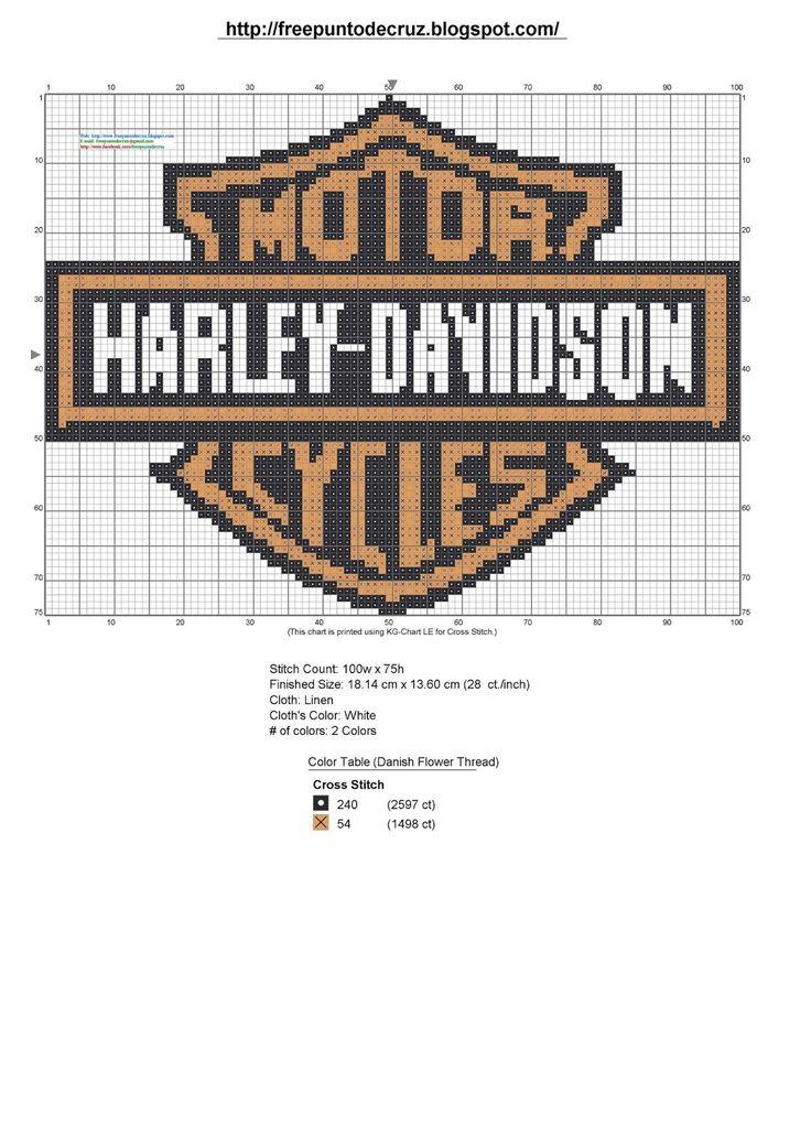 Dibujos Punto de Cruz Gratis: Resultados de la búsqueda de Harley Davidson
