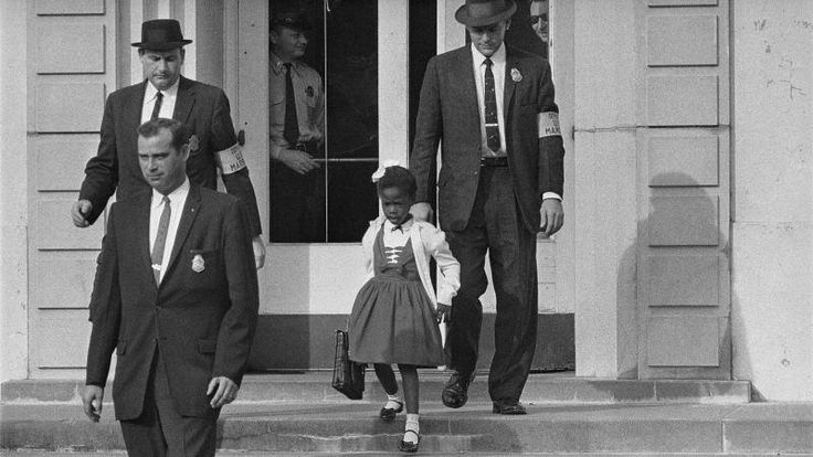 1960: Ruby Bridges became the first black girl to attend a white elementary school in the South.