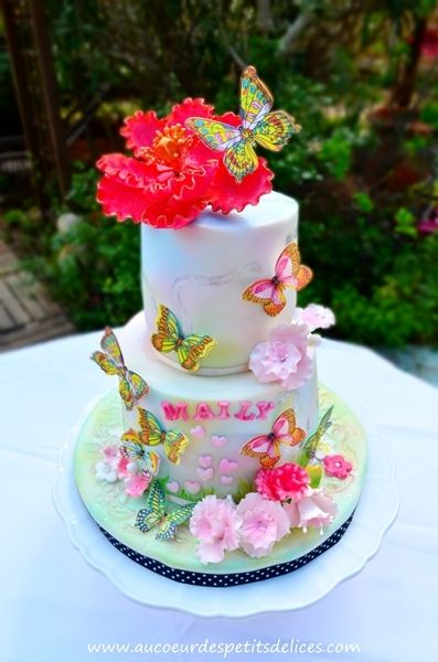 17 best images about gateaux on pinterest birthday cakes deco and photo cakes - Gateau anniversaire petite fille ...