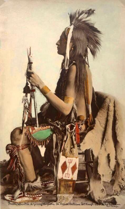 Snake Whistle. Cheyenne. 1880. Photo by L.A. Huffman.