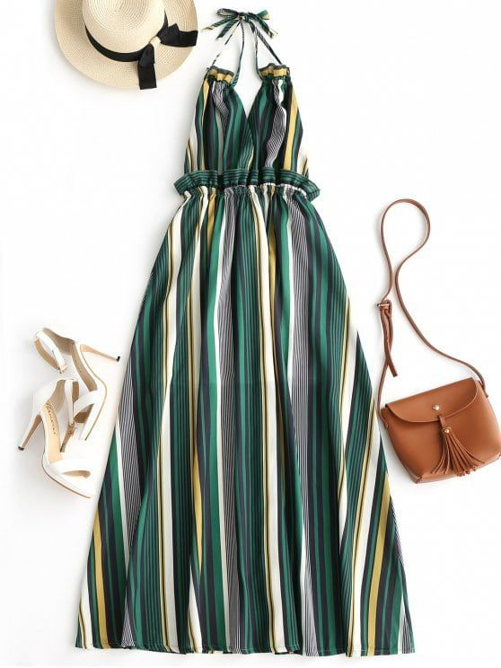 Up to 80% OFF! Striped Ruffles Backless Halter Maxi Dress. #Zaful #Dress Zaful,zaful outfits,zaful dresses,spring outfits,summer dresses,Valentine's Day,valentines day ideas,valentines outfits,cute,casual,classy,fashion,style,dress,long dress,maxi dress,mini dress,long sleeve dress,flounced dress,vintage dress,casual dress,lace dress,boho dress, flower dresses,maxi dresses,evening dresses,floral dresses,long dress,party dress,bohemian dresses,floral dress @zaful Extra 10% OFF Code:ZF2017