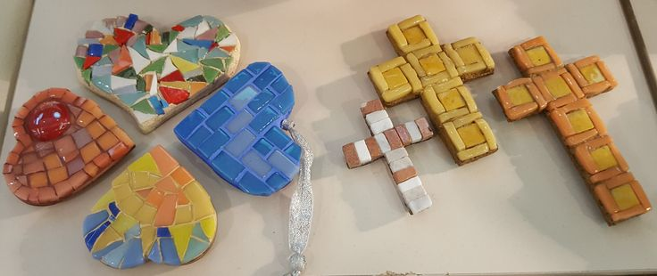 Magnets - marbre and glass mosaic