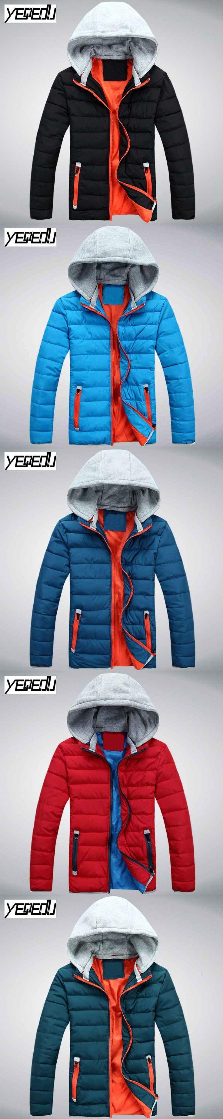 #2459 2017 Mens hooded jackets Parka coat homme Men's down jackets Casaco inverno masculino Slim Warm mens jackets Parkas