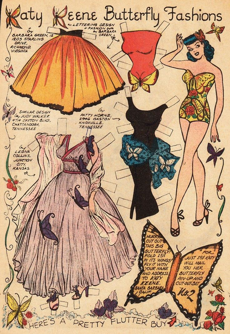 The Paper Collector: Katy Keene Butterfly Fashions