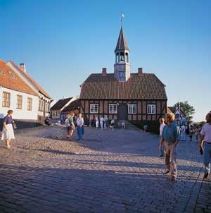 """Æbeltoft Rådhus"" The old City-hall, in Aebletoft, Denmark."
