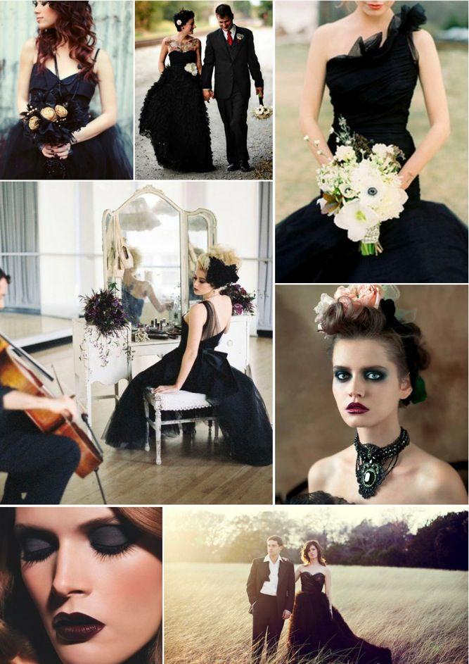 Black Wedding Dress Up : Best 25 black weddings ideas only on pinterest wedding