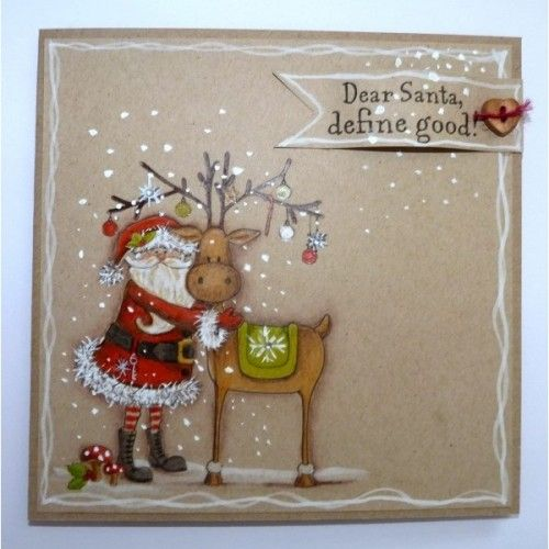 Nordic Christmas A6 Stamp - Santa's Helper - Nordic Christmas - CRAFTERS COMPANION - By Brand