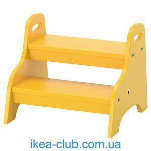 ИКЕА, IKEA, ТРУГЕН, 803.715.20, Детский стул, желтый, 40x38x33 см