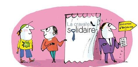 L'habit ne fait pas le moine, mais il y contribue. Avec ce slogan, La Cravate Solidaire aide les personnes en recherche d'emploi à avoir la bonne tenue et la bonne attitude pour leurs futurs entretiens.