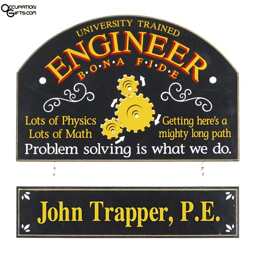 engineer sign  hanging  personalization engineer gifts pinterest signs engineers