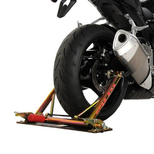 Pit Bull Trailer Restraint System – Suzuki GSXR600/750/1000 (see description for years) The Pit Bull Trailer Restraint System is a revolutionary way to transport your motorcycle using a combination of features never seen before. It holds the bike from its rear axle and allows both tires to rest on the floor of the trailer or transport vehicle. U.S. Patent No. 7,287,942 Fits: Suzuki GSXR600 2006-2010 Suzuki GSXR750 2006-2010 Suzuki GSXR1000 2010-2012 Suzuki Bandit 1250 2007-..
