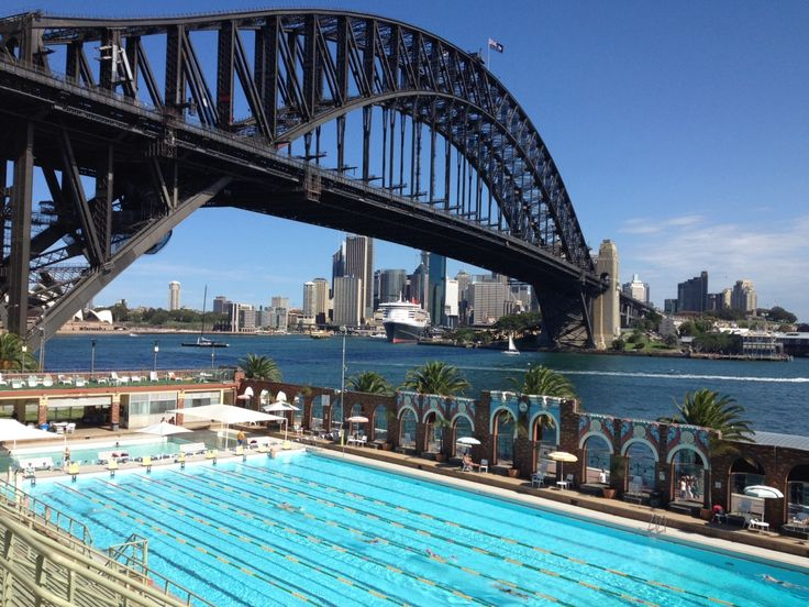 Gotta love a pool with hardly any people in it and with a view like this! #sydney #australia #pool
