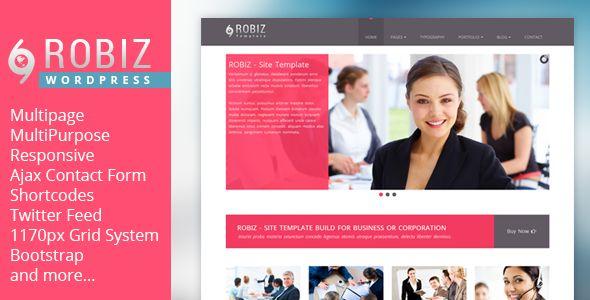 ROBIZ - Responsive Multi-Purpose Wordpress Theme