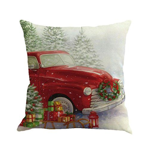 Goddessvan Christmas Printing Dyeing Pillow Cover Sofa Bed Home Decor Cushion Cover 1818 Inch (1818 Inch E)