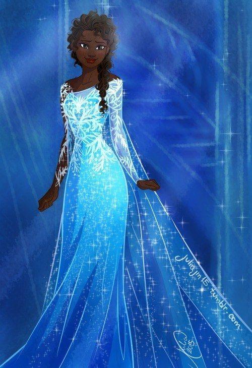 Catraca recomenda: a MariMoon fez uma postagem bem legal, ela encontrou desenhos que diversos artistas fizeram das Princesas da Disney em versões negras. G